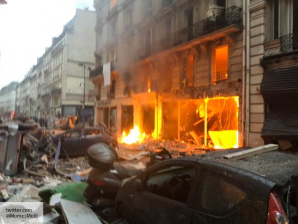 Взрыв прогремел прямо в центре Парижа