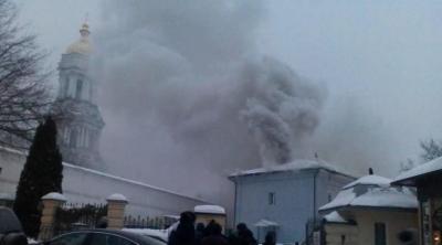 Пожар 14 января начался в Киево-Печерской лавре