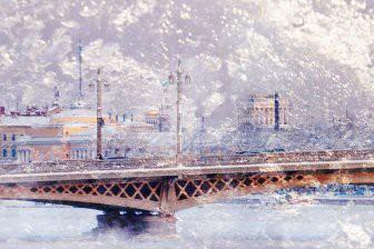 Синоптики: Петербург завалит сильным снегом перед Крещением
