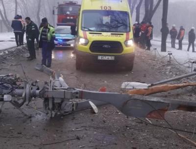 В Алма-Ате разбился частный вертолет, пилот погиб