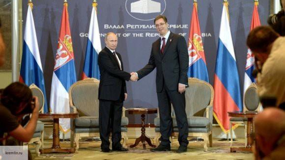 Владимир Путин поблагодарил президента Сербии за его принципиальную позицию по отношению к России