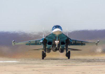 На Дальнем Востоке столкнулись два истребителя-бомбардировщика Су-34