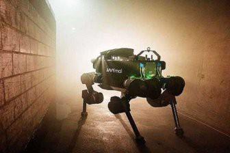 Четвероногого робота научили вставать с колен