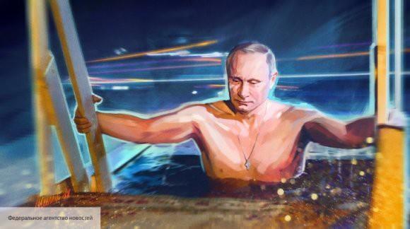Владимир Путин окунулся в подмосковном проруби