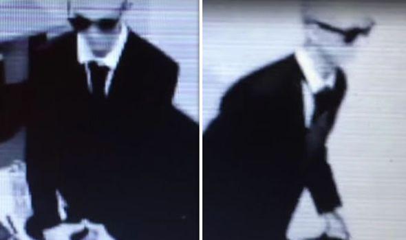 На камеру видеонаблюдения засняли визит Человека в черном