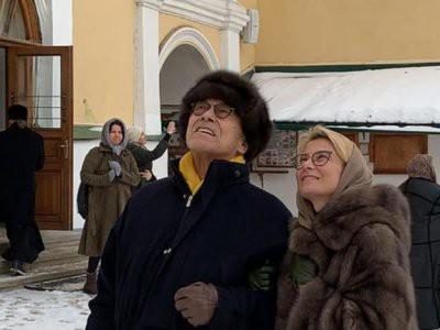 Юлия Высоцкая и Андрей Кончаловский обвенчались в Пскове после 20 лет брака