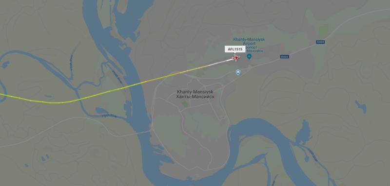 Рейс Сургут-Москва, который пытались захватить, экстренно сел в Ханты-Мансийске