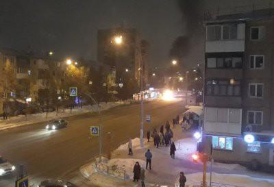 В Кемерово загорелся маршрутный автобус с пассажирами