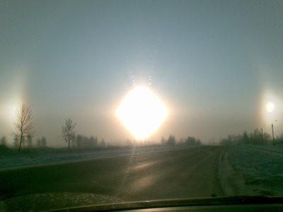 Утром москвичи видели гало