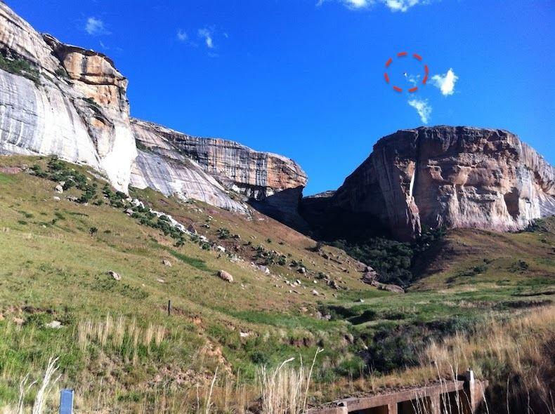 В Южной Африке засняли пирамидальный НЛО