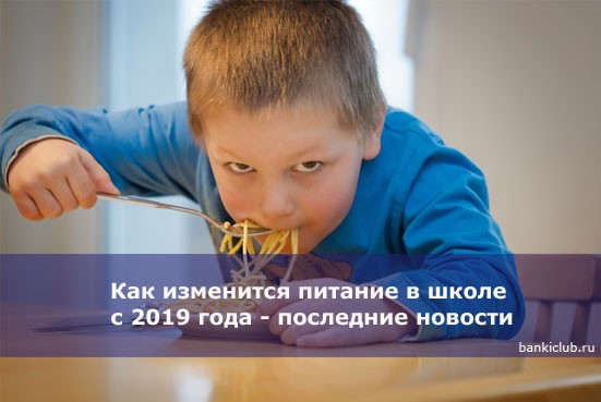 Как изменится питание в школе с 2019 года — последние новости