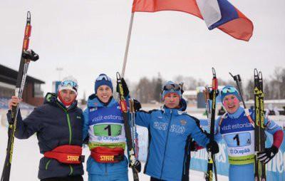 Российские биатлонисты выиграли эстафету на юниорском ЧМ-2019 в Словакии