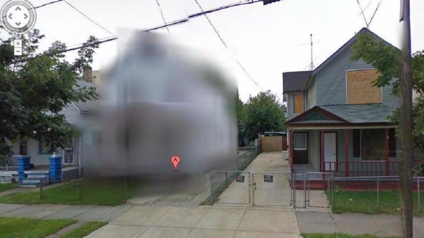 Почему Google Street View замазал дом в Огайо