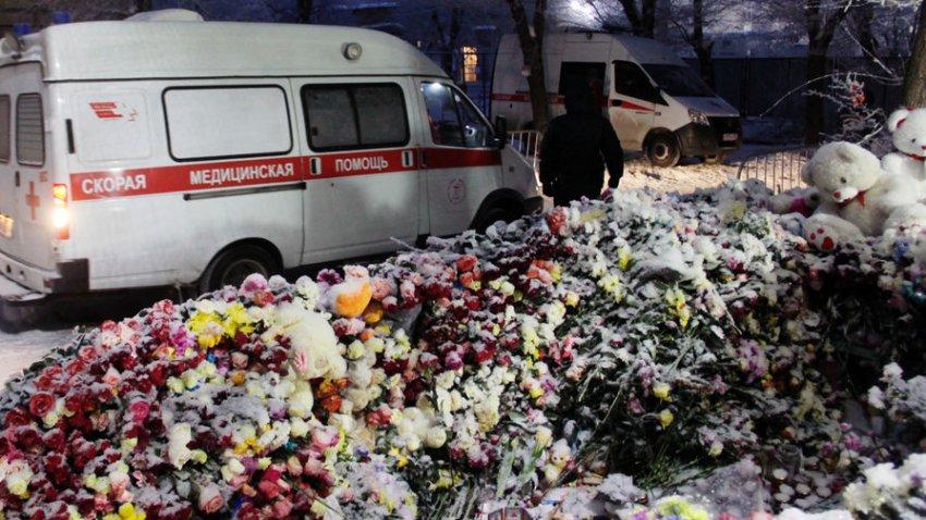 Как прошло прощание с погибшими в Магнитогорске - фото, видео