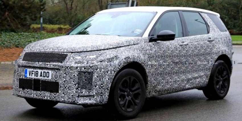 Опубликованы шпионские фотографии нового Land Rover Discovery Sport