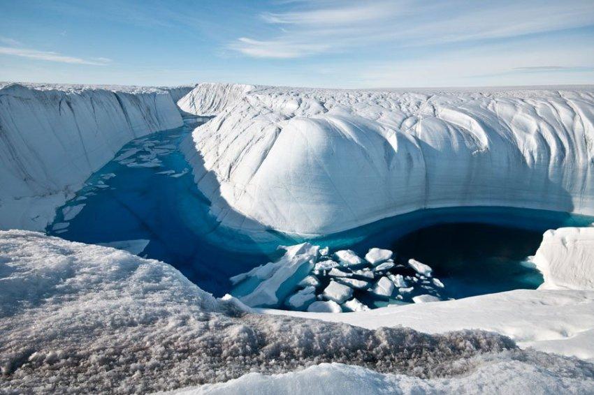 Ученые: Таяние льда в Гренландии ускорилось в 4 раза за 10 лет