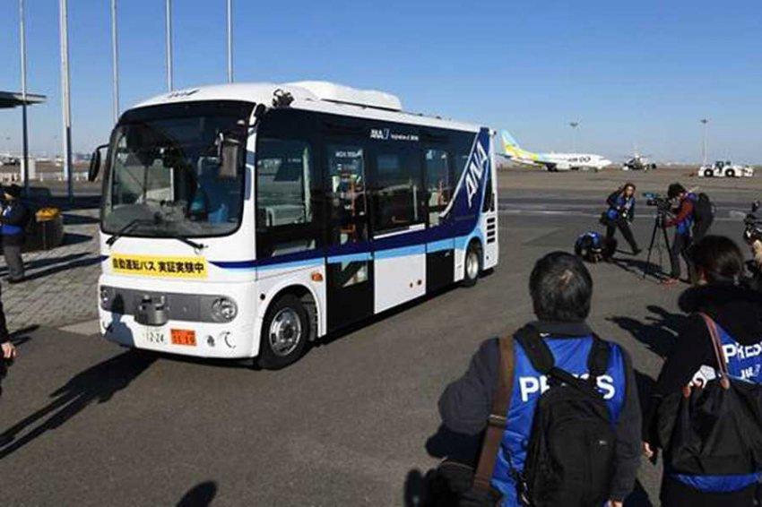 В Токио тестируют беспилотные автобусы в аэропорту