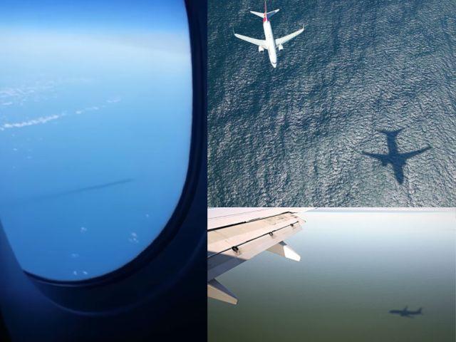 Пассажир самолета заснял загадочный огромный подводный объект