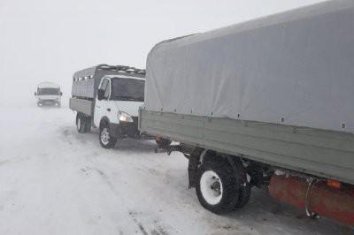 Застрявших на дороге в буран граждан России спасли в ЗКО
