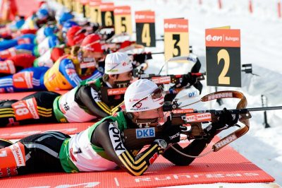 Немецкие биатлонистки выиграли эстафету в Кэнморе