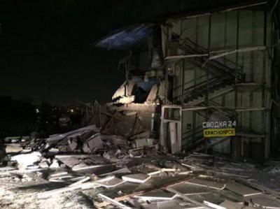 В Красноярске из-за взрыва бытового газа обрушился жилой дом