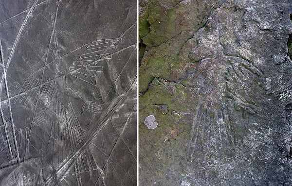 Петроглиф на башкирской скале удивительно похож на рисунок с плато Наска