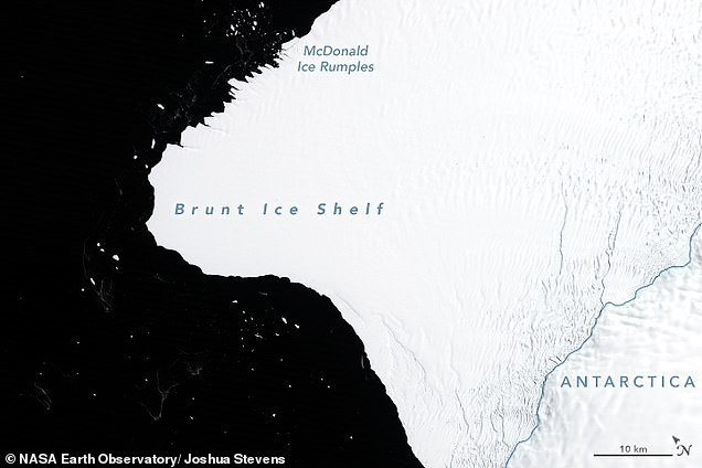 В Антарктиде от ледника Бранта скоро отколется айсберг в 30 раз больше Манхэттена