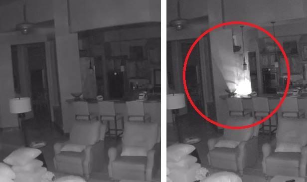 Портал? Камера засняла в квартире необъяснимый источник света