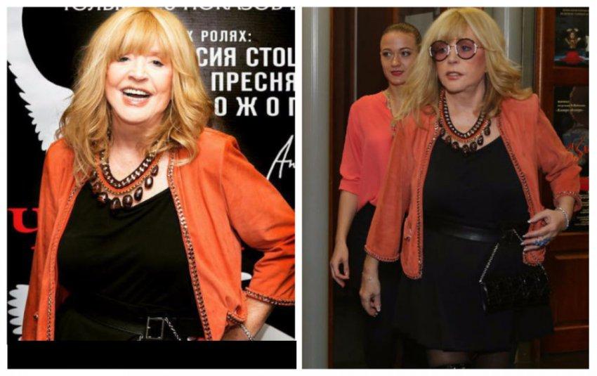 Пугачёва пришла на юбилей к Ирине Муравьёвой в платье с экстремальным разрезом