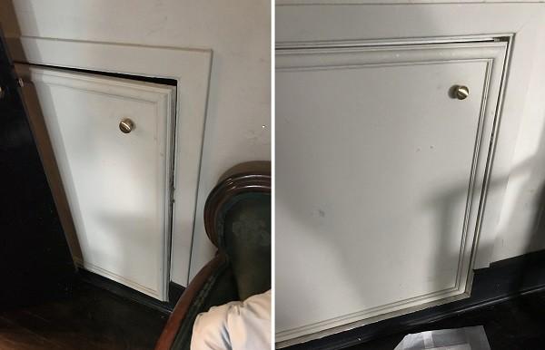 Кто-то стучал в дверь спальни и прятался в шкафу под лестницей