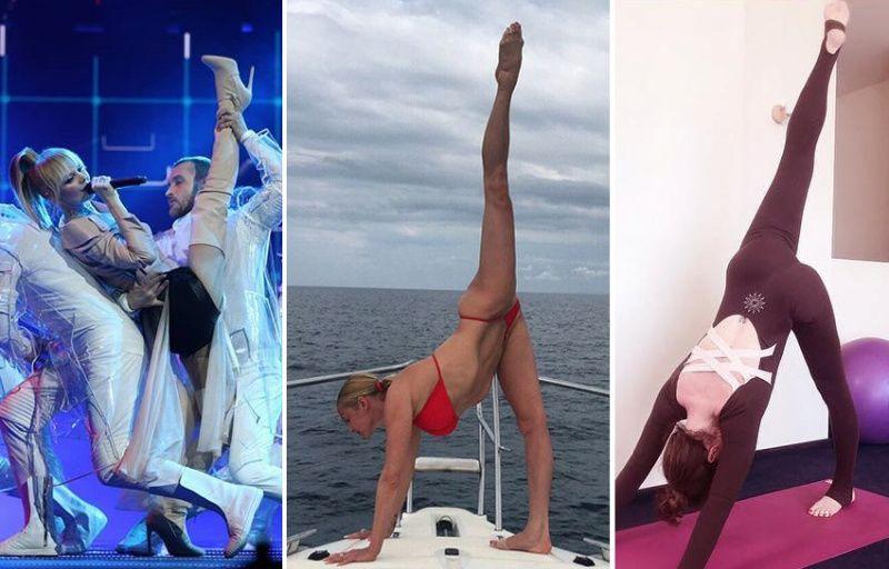 Алена Хмельницкая показала растяжку не хуже, чем у Анастасии Волочковой и Валерии, сделав шпагат