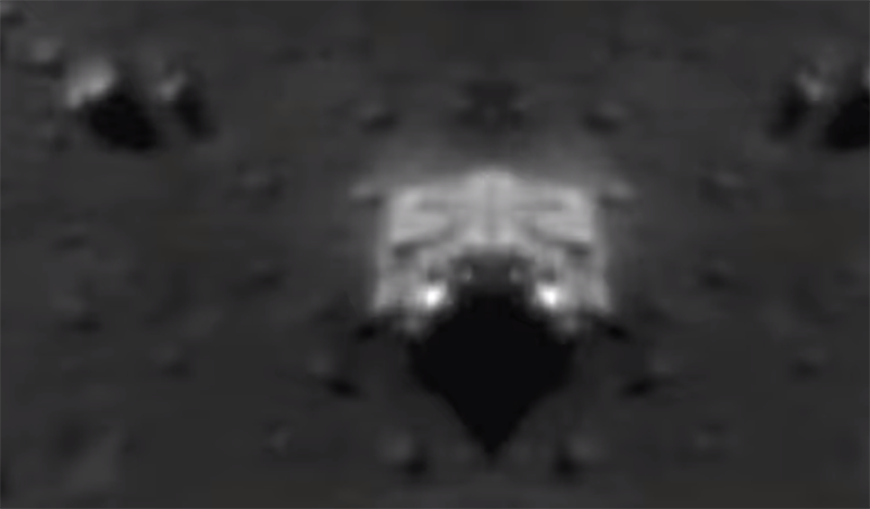 На Луне обнаружена странная структура белого цвета