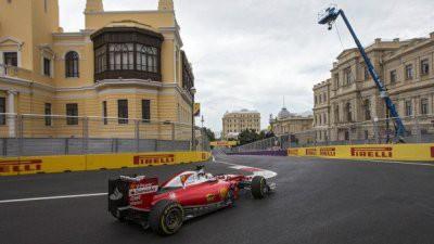 Этап «Формулы -1» в Баку прерван из-за аварии и сломанной мачты