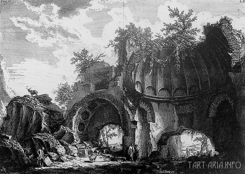 Руины неопознанных городов на гравюрах XVIII века