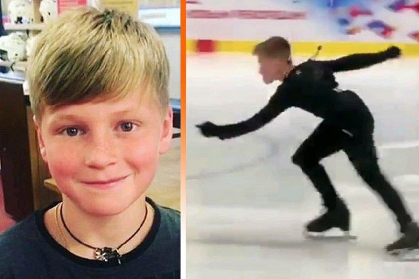 12-летний фигурист Максим Белявский впервые в истории совершил прыжок в пять оборотов