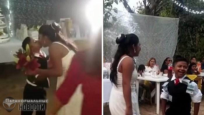Мексиканцев шокировала свадьба женщины и мальчика