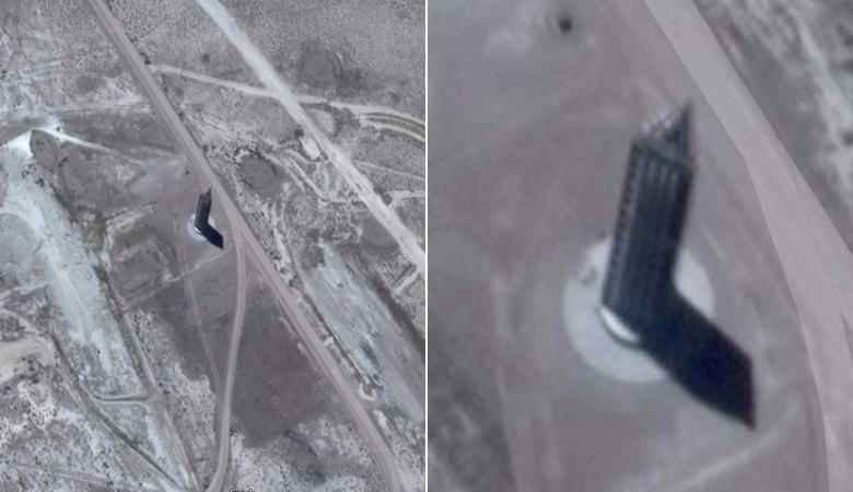 """Возле """"Зоны 51"""" обнаружили треугольный """"небоскреб"""""""