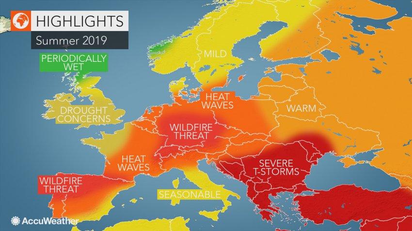 Европу этим летом накроет экстремальная жара