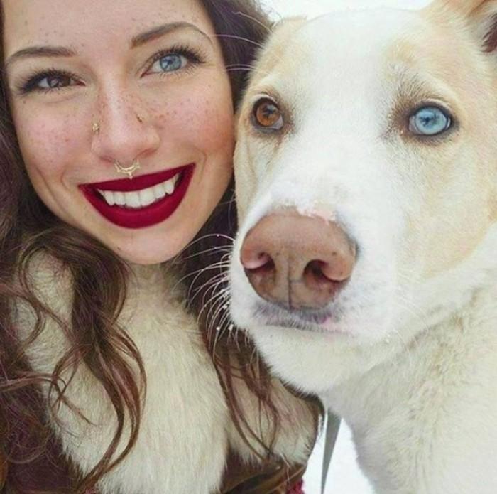Фотографии, на которых собаки удивительно похожи на своих хозяев