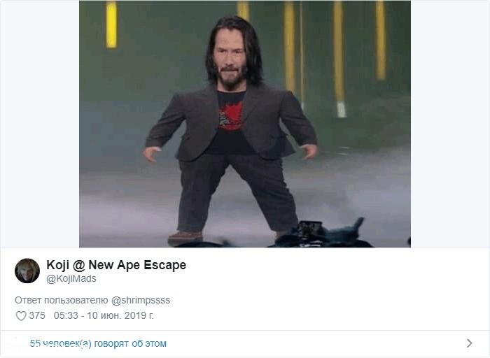 Уменьшенный Киану Ривз стал мемом, который покорил Интернет