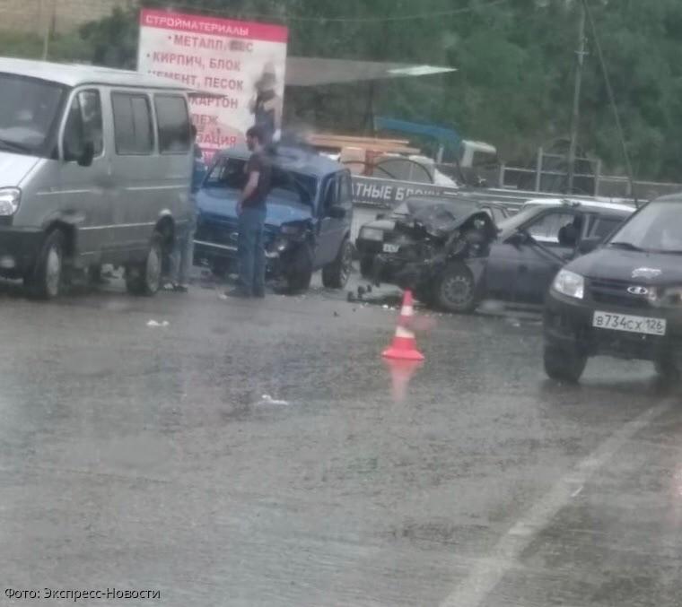 Авария в Кисловодске стала причиной большой пробки