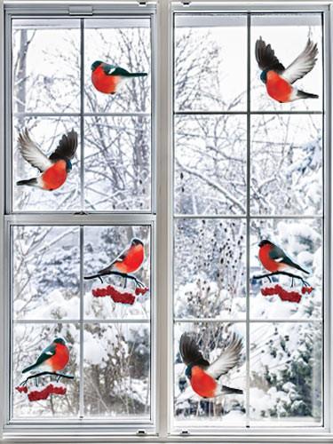 Как украсить окна к Новому 2019 году своими руками