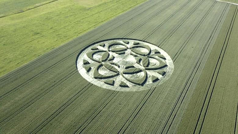 Пришельцы снова дали о себе знать: на кукурузном поле в Швейцарии появился странный рисунок