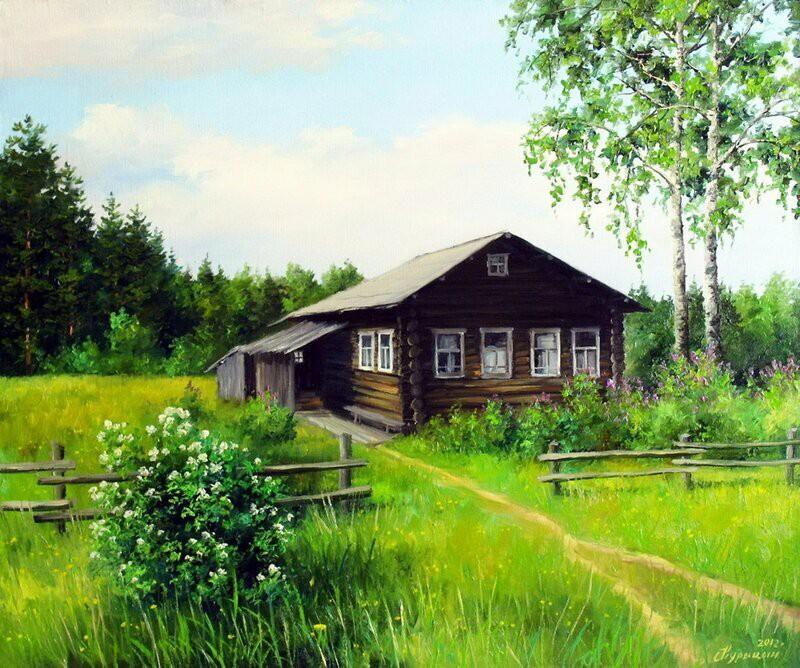 Деревенские просторы в картинах Курицына Сергея Павловича