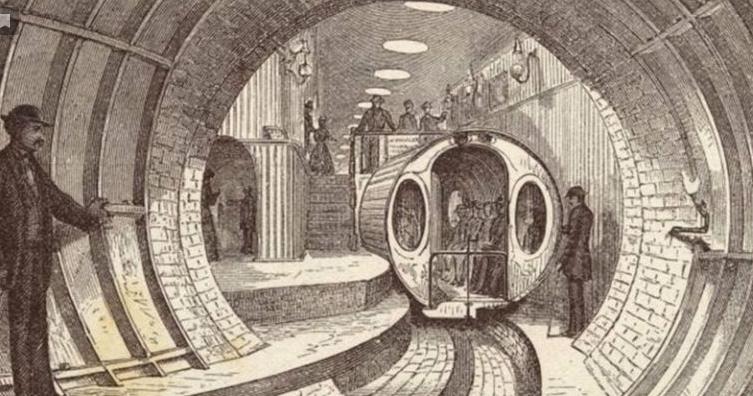 """""""Пневмотранзит"""" - подземный тоннель для пневматических поездов"""