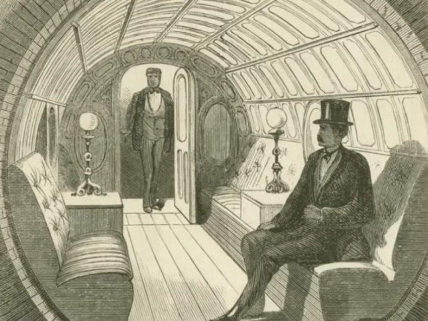 Пневмотранзит   подземный тоннель для пневматических поездов