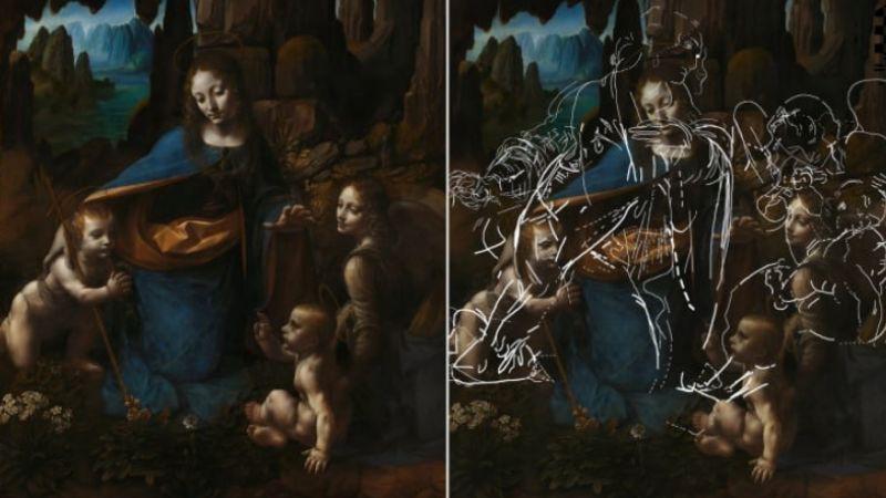 Под картиной да Винчи «Мадонна в скалах» нашли скрытые рисунки