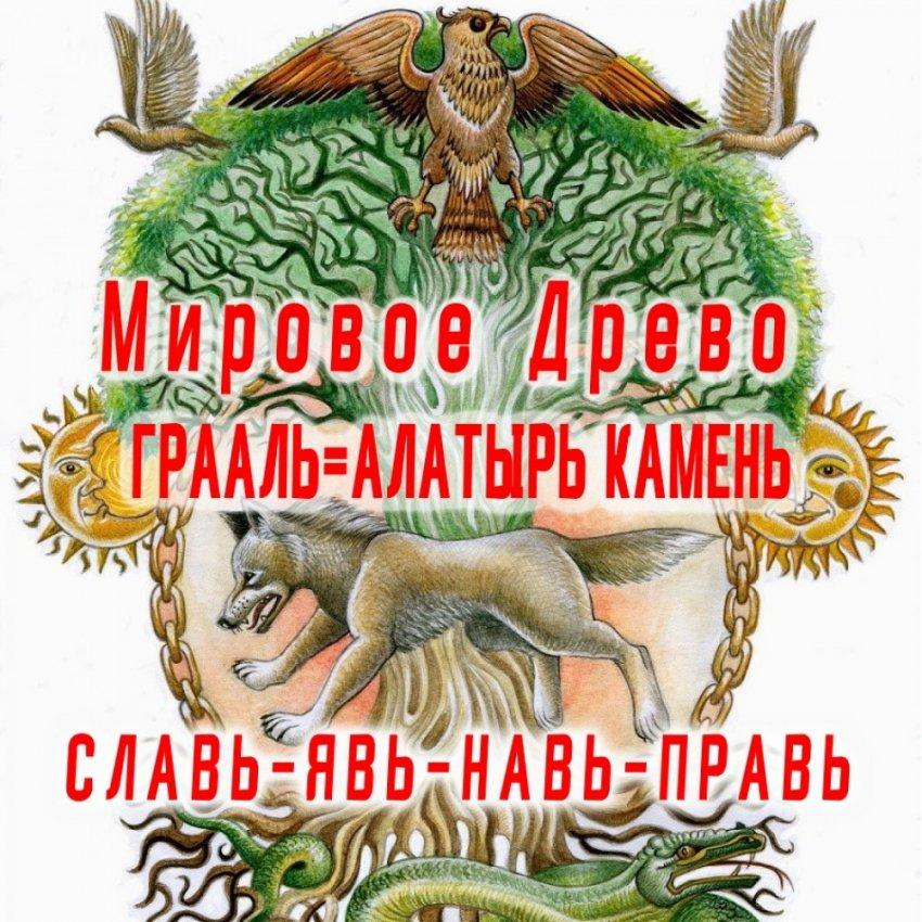 Найдены Мировое Древо, и Алатырь камень (Грааль).