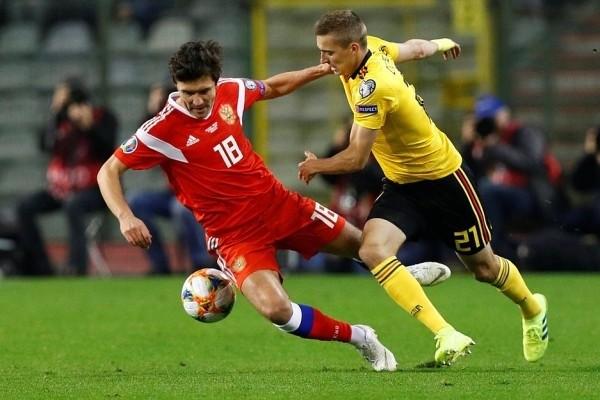 Сборная России по футболу сыграет с Бельгией