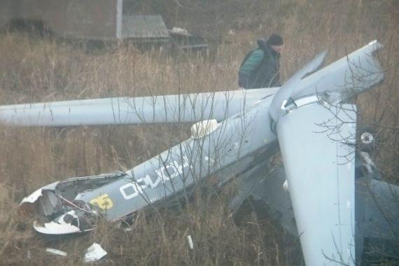 Российский военный беспилотник упал в поселке под Рязанью